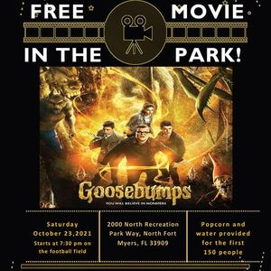 North Fort Myers Free Movie In The Park - Goosebumps