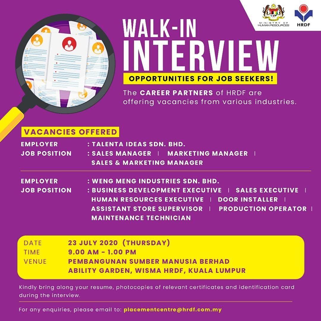Hrdf Walk In Interview Session At Ability Garden Wisma Hrdf Kuala Lumpur