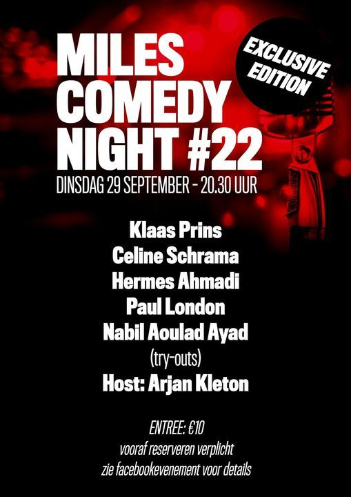Live at Miles Comedy Night 22