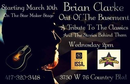 Brian Clarke's Out Of The Basement | Event in Branson | AllEvents.in
