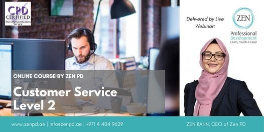 Customer Service Level 2 - Online Training, 29 October | Online Event | AllEvents.in