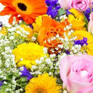 Hand Tied Bouquets with Marigolds