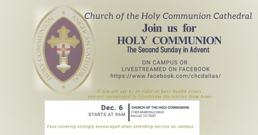 Holy Communion Service, 6 December | Event in Addison | AllEvents.in