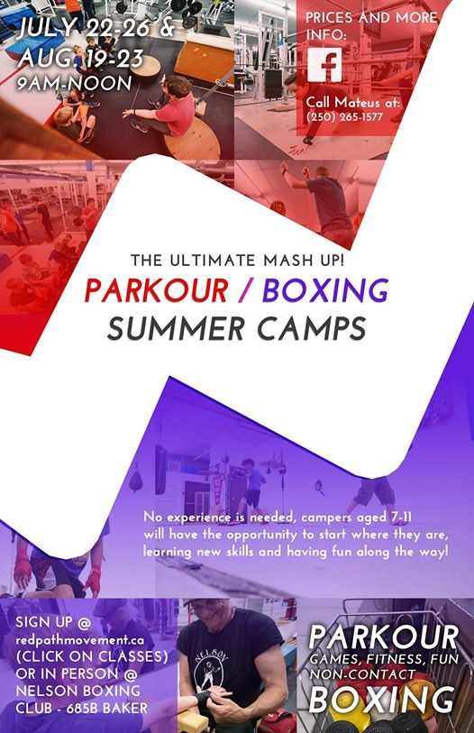 Parkour  Boxing Summer Camps