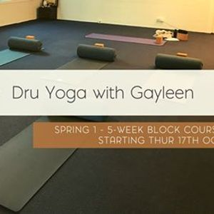 Dru Yoga with Gayleen - 5-week Block Course (Thu 12.15pm)