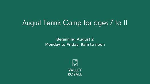 August Tennis Camp (Ages 7-11), 2 August | Event in Lehighton | AllEvents.in