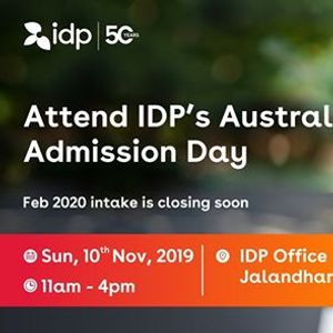 Attend IDPs Australia Admission Day  Jalandhar