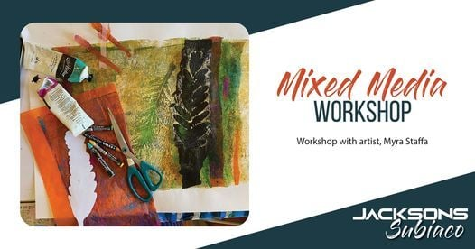 Mixed Media Workshop with Myra Staffa   Event in Orange Grove   AllEvents.in