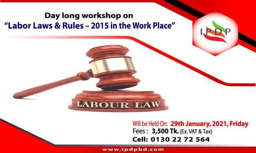 """Day long workshop on ``Labor Laws & Rules – 2015 in the Work Place"""", 29 January 