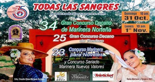 34 Gran Concurso Decano de Marinera y Tondero Todas las Sangres, 31 October | Event in Barranco | AllEvents.in