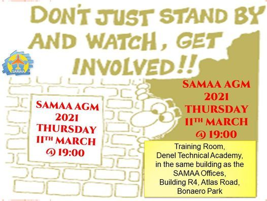SAMAA Annual General Meeting 2021, 11 March   Event in Johannesburg   AllEvents.in