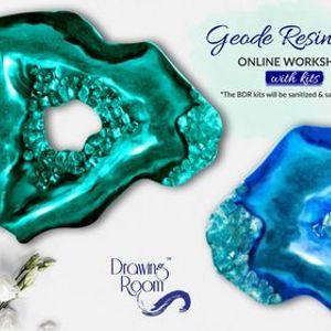 Geode Resin Art Online Workshop with Home Delivered Kits