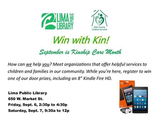 Win with Kin! at Lima Public Library, Lima