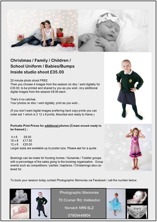 Christmas Holidays Photo Studio sessions in Hellesdon.