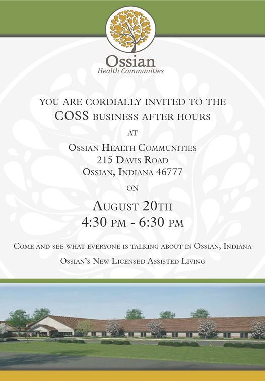 COSS Business After Hours at Ossian Communities, Ossian