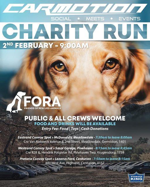 Fora Charity Run At Fora Animal Shelter Krugersdorp