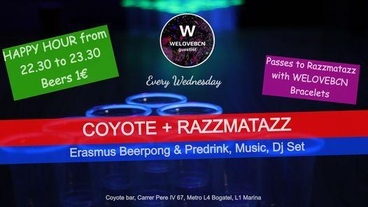 Wednesday Erasmus Beerpong Predrink at Coyote