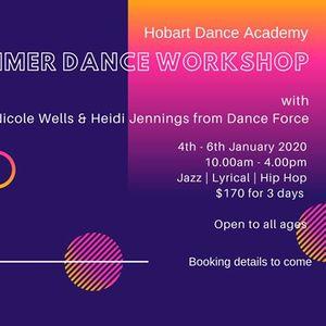 Hobart Dance Academy  Summer Dance Workshop