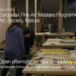 Open afternoon for the European Fine Art Masters Programme Art Society Nature