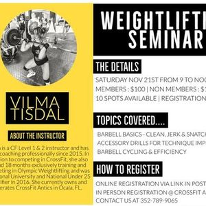 Weightlifting Seminar 2020