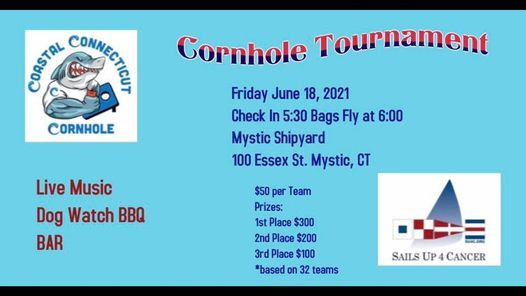 Sails Up 4 Cancer Cornhole Tournament, 18 June | Event in Mystic | AllEvents.in