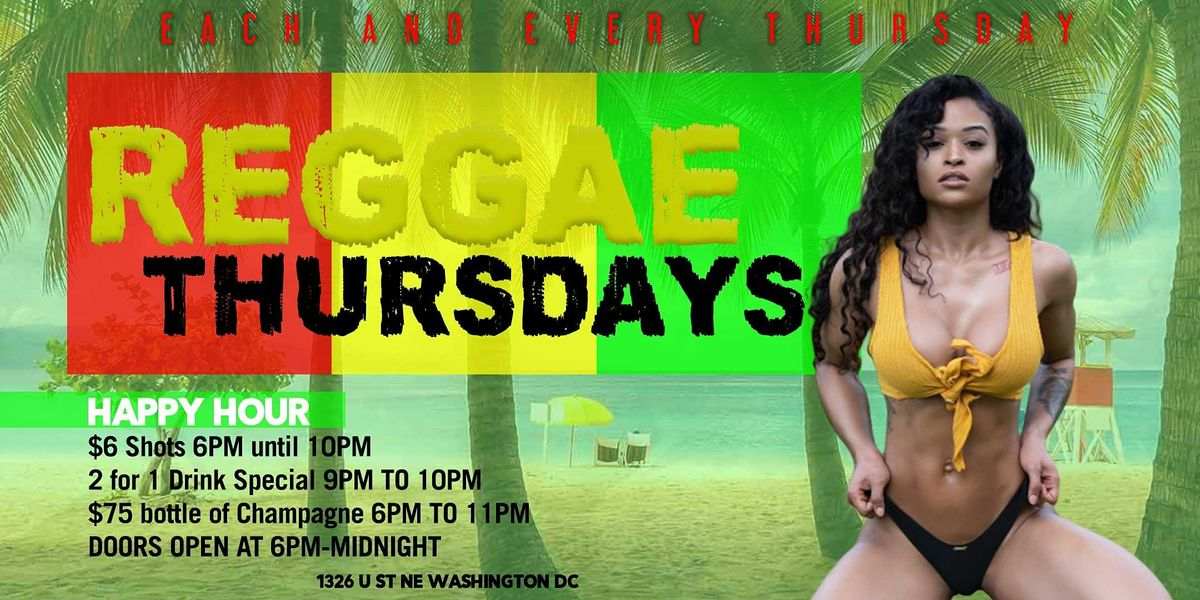Reggae Thursdays @ Pure Lounge | 2 for 1 Drink Special | Event in Washington | AllEvents.in