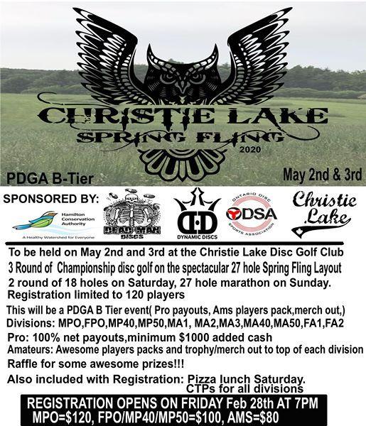 2020 Christie Lake Spring Fling Sponsored by Dynamic Discs