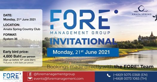 Fore Invitational at Amata Spring Country Club, 21 June | Event in Chon Buri | AllEvents.in