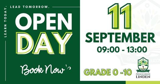 Pinnacle College Linden Open Day, 11 September | Event in Linden | AllEvents.in