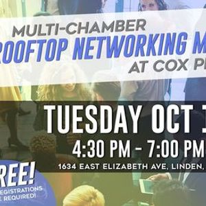 Multi-Chamber Rooftop Networking Mixer at Cox Printers