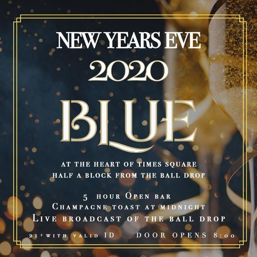 New Years Eve 2020 @ Blue Midtown Times Square, 31 December | Event in Manhattan | AllEvents.in