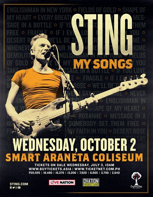 My Songs: Sting Live in Manila 2019 at Smart Araneta