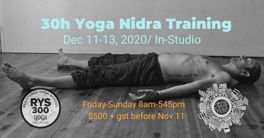 30hr Yoga Nidra Training - In Studio, 11 December | Event in Vancouver | AllEvents.in