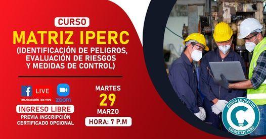 Curso Gratuito: Matriz IPERC, 11 January | Event in Lince | AllEvents.in