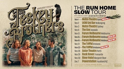 Sold Out - The Teskey Brothers - Run Home Slow Album Tour