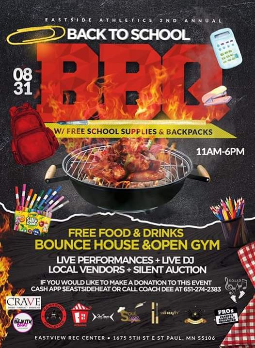 2nd annual Back 2 school BBQ w/free school supplies at