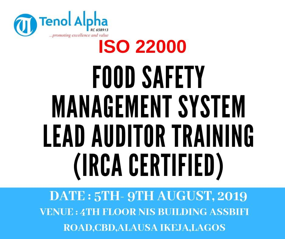 ISO 22000 FSMS (Food Safety Management System) Lead Auditor (IRCA Certified)