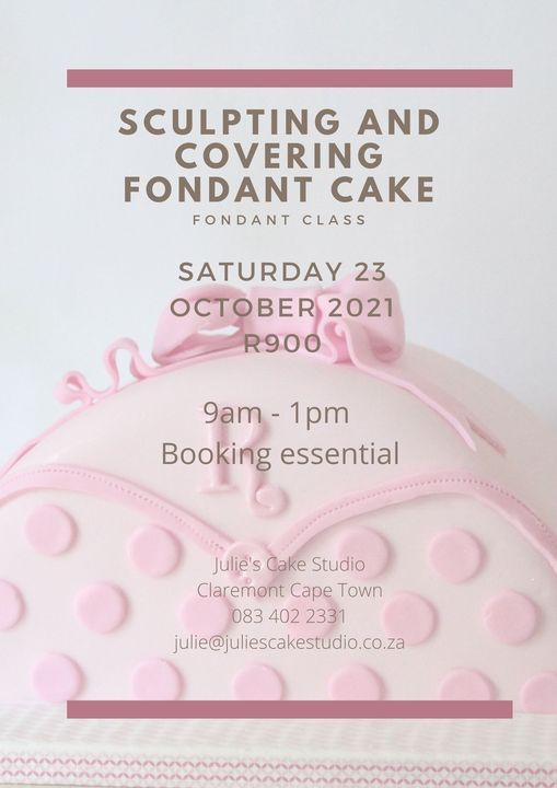 Sculpting and Covering Fondant Cake (in person), 23 October | Event in Claremont | AllEvents.in