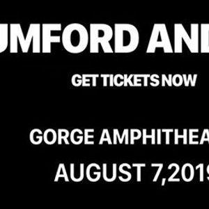 Gorge Amphitheatre Camping Mumford & Sons