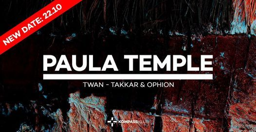 Paula Temple at Kompass, 22 October   Event in Ghent   AllEvents.in