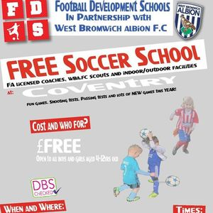 Fds-Wba FC Free Coventry October Half Term Soccer School