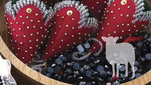 Woodlands Beaded Strawberry Pin Cushion at Wellington County Museum
