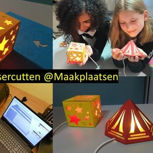 High Tech workshops Lasercut je eigen lamp (6-12 jaar)