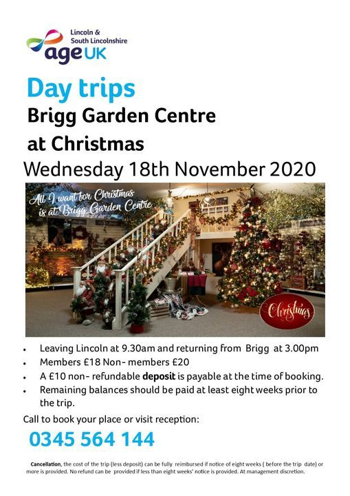 Cancelled Brigg Garden Centre At Christmas Age Uk Lincoln South Lincolnshire 18 November 2020