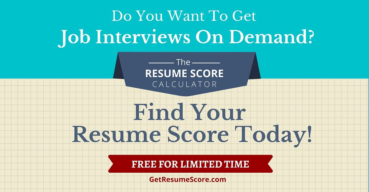 """""""Resume Score Maximizer"""" — Do You Know Your Resume Score? — Johannesburg   Event in Johannesburg"""