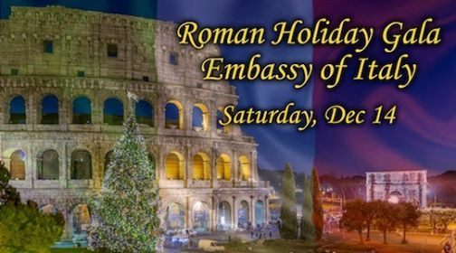 Roman Holiday Gala at the Embassy of Italy