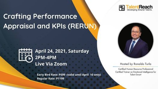 CRAFTING YOUR PERFORMANCE APPRAISAL AND KPIs (Rerun), 24 April | Online Event | AllEvents.in
