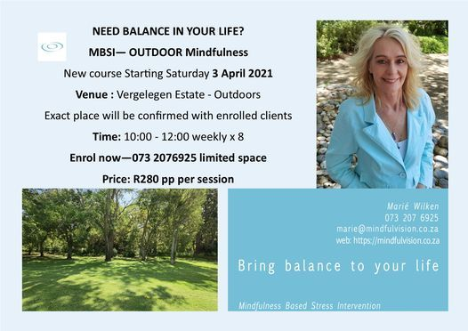 Outdoor Mindfulness at Vergelegen Estate, 8 May | Event in Somerset West | AllEvents.in