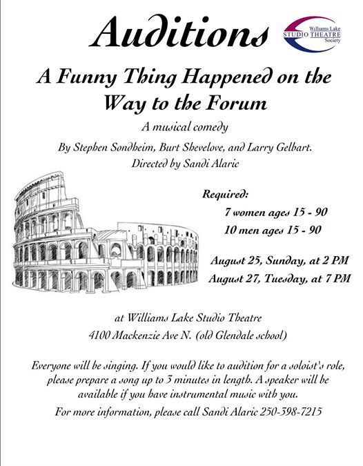 A Funny Thing Happened On The Way To The Forum Auditions