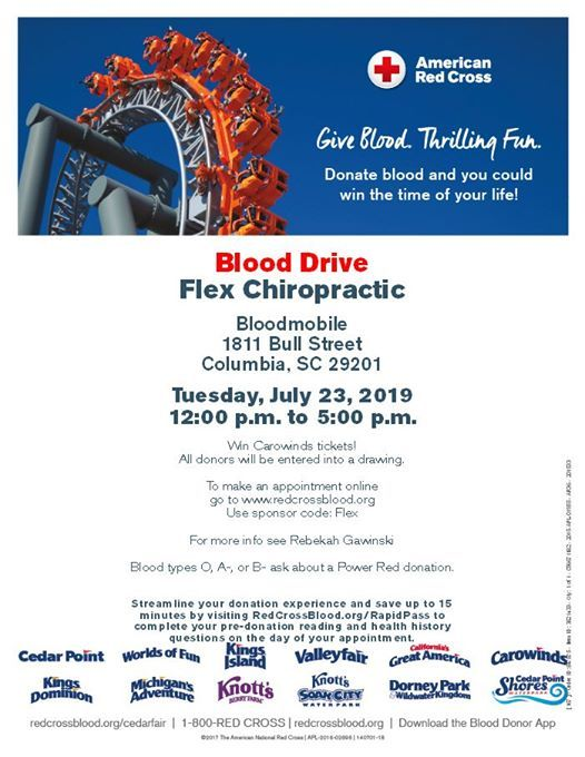 Blood Drive at Flex Chiropractic, Columbia